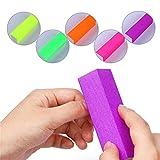 NICOLE DIARY 5Pcs Fluorescenti Nail Art Buffer Block Smerigliatura Lavorazione a polvere di lucidatura strumenti colorati di arte del chiodo (con 5 colori differenti)