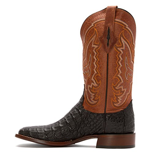 Lucchese Mad Dog Hommes Cuir Santiags Black-Brown