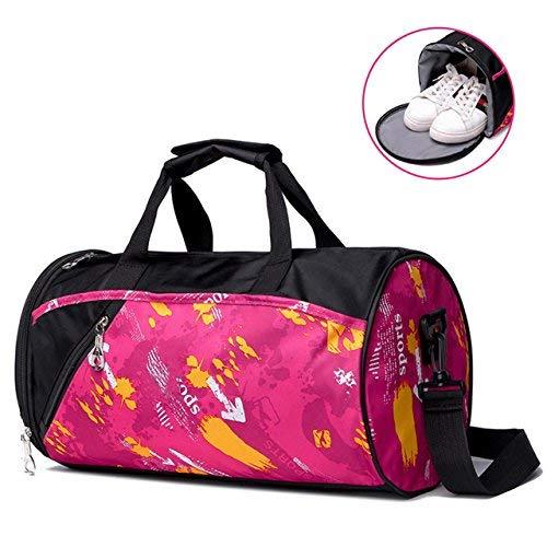 Faleto Sporttasche aus Segeltuch mit Schuhfach klein Fitness Yoga Ausrüstung Tasche Wasserdicht für Männer & Frauen, 3 Red (Yoga-ausrüstung Für Frauen)