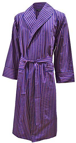94854963456e00 Robe de chambre légère 100% coton - rayé bleu / rouge / blanc - homme (L)