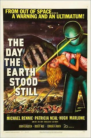 Leinwandbild 40 x 60 cm: Der Tag, an dem die Erde stillstand von Everett Collection - fertiges Wandbild, Bild auf Keilrahmen, Fertigbild auf echter Leinwand, (Alien Invasion Der Erde)
