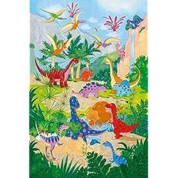 Dinosaurios - Dino World 4-Part Póster Fotomural (254 x 183cm)