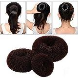 ASIV 3 Pièces Bandeaux Fashion, Accessoires pour Cheveux Donut Chignon Bun Maker Outils de Coiffure pour Femmes et Filles (Grand + Moyen + Petit)