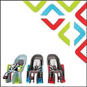 Polisport guppy maxi kit accoudoirs rouge pour vélo lot de 2 repose-pieds