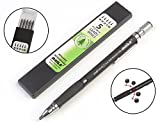 #9: Baile 2.0mm Mechanical Auto Pencil + Lead Box (5 Leads) - Body Color Black