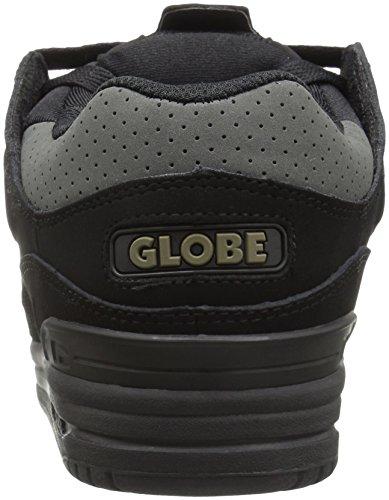 Globe Fusion Nero/Rosso/notte scarpe da skate Black/Gunmetal