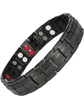 MPS® Titan 4 Elements magnetische Armband für Männer mit Klappschließe, Leistungsstarke 3000 Gauß Magneten, und...