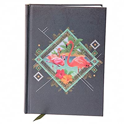 Hardback A6 Lined Note Book - Funky Flamingo. PDS