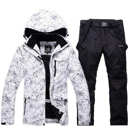 YFF Donne o uomini giacca Sci e Snowboard Pant tuta impermeabile gli amanti della tuta da sci,nero,S
