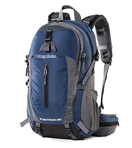 Outdoor Sport Rucksack 40L Wasserdicht Wandern Reisen Bergsteigen Tasche Blue