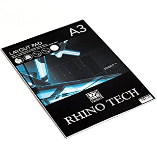 RHINO Tech Layout Pad, A3, 50 leaf