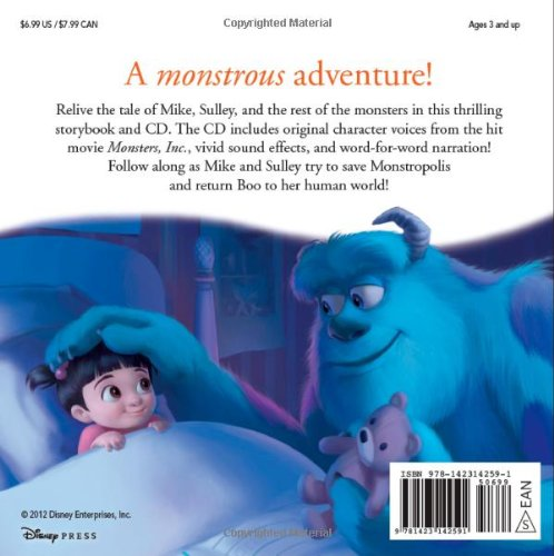 Image of Monsters, Inc. Read-Along [With CD (Audio)] (Read-Along Storybook and CD)