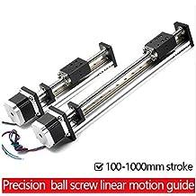 Carril de guía lineal de varilla roscada, con motor y husillo de bolas para módulo lineal de husillo de bolas CNC, para piezas de impresora 3D, kit de brazo robótico.
