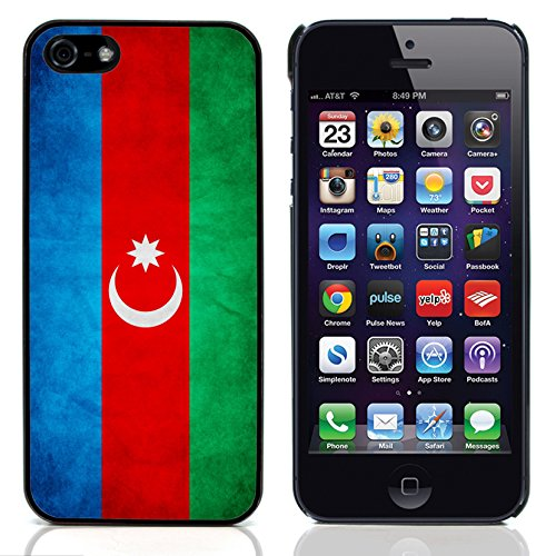 Graphic4You Vintage Uralt Flagge Von Kosovo Design Harte Hülle Case Tasche Schutzhülle für Apple iPhone 5 und 5S Republik Aserbaidschan Aserbaidschaner