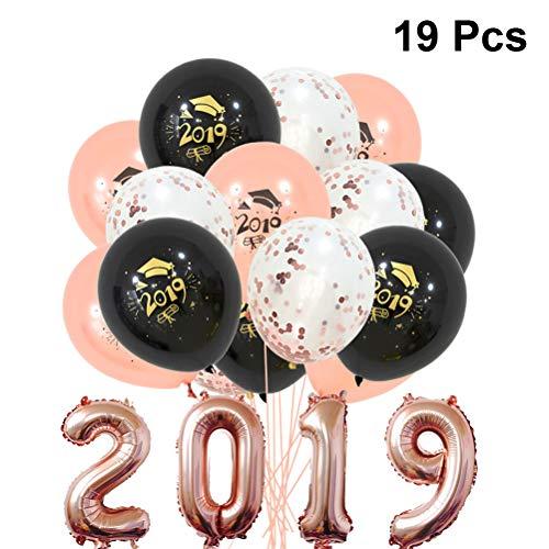 Amosfun 19 stücke Abschlussfeier Ballons klasse Feier Dekoration Luftballons Partei liefert für Abschlussfeier Party (Partei Dekorationen Und Liefert)