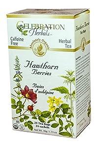 Celebration Herbals Organic Hawthorne Berries Tea Caffeine Free -- 24 Herbal Tea Bags