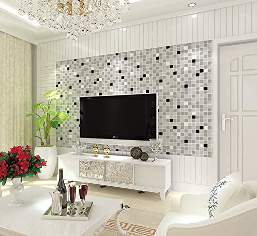 SDKKY Modern minimalist bathroom living room wall mosaic Hotel KTV Club clothing store wallpaper , 3 , 0.53m*10m