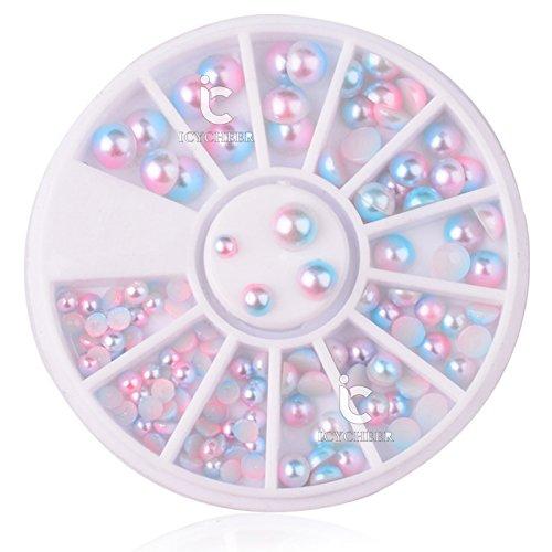 NAI Art 3D Dekoration Rad Cute 3/4/5/6Palette Farbe mermaid Ball Perle Mermaid Ball