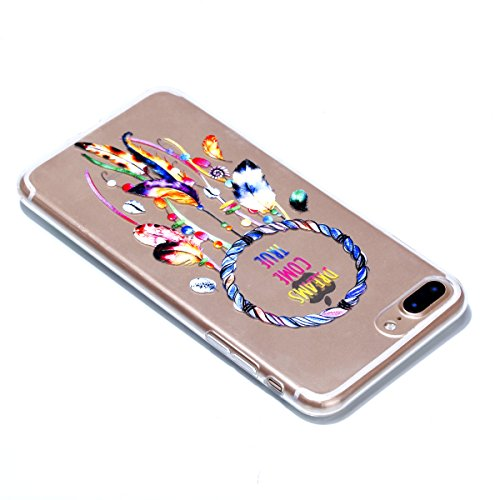 Custodia iPhone 7 Plus, iPhone 7 Plus Cover Silicone Trasparente, SainCat Cover per iPhone 7/8 Plus Custodia Silicone Morbido, Shock-Absorption Custodia Ultra Slim Transparent Silicone Case Ultra Sott Chimica Del Vento