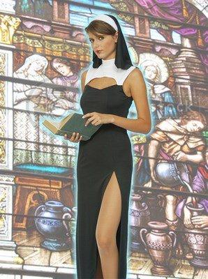 Blumen Paolo-Nonne Sexy Kostüm Damen Erwachsene Womens, schwarz, Größe 40-42, 62043