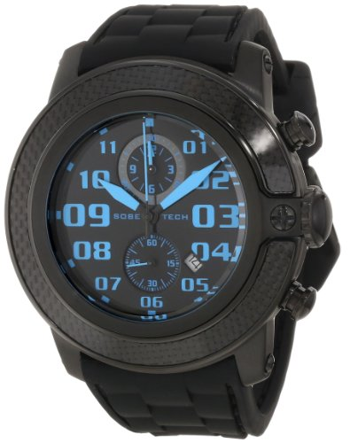 Glam Rock Men's GR33119 SoBe Chronograph Black Dial Black Silicon Watch