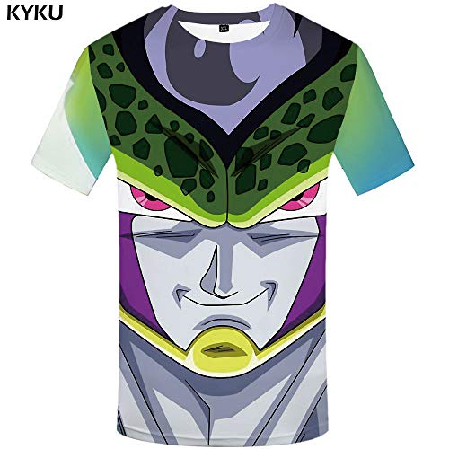 fda2175e KYKU Brand Dragon Ball Z T shirt Goku Tops Red Hair shirts Hand Tees T-shirt