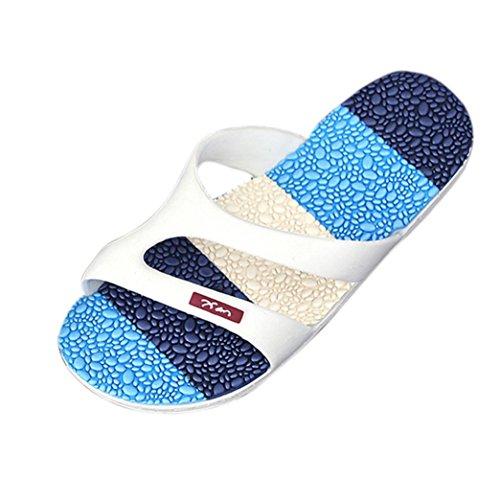 Herren Schuhe Yesmile Massage Flach Flip Flops Männer Bequeme Zehentrenner Sandalen Jungen Sommer Draussen Slipper (EU 43, Blau)