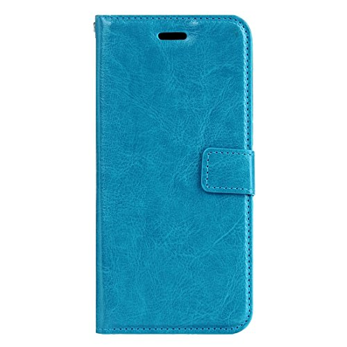 Phone case & Hülle Für iPhone 6 Plus / 6s Plus, Crazy Horse Texture Horizontale Flip Leder Tasche mit magnetischen Wölbung & Halter & Card Slots & Wallet & Photo Frame ( Color : Black ) Blue