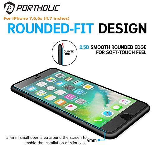 iPhone-6-6s-7-Pellicola-Protettiva-Vetro-Temperato-protezione-schermo-47-PORTHOLIC-2-Pack9H-Durezza-3D-Toccare-Alta-Definizione-Anti-Explosion-anti-graffimanualeImpronte-digitali-033mm-Screen-Protecto