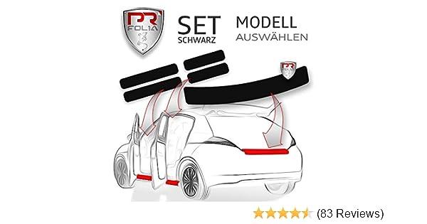 Ladekante Lack-Schutz-Folie T/ür-Einstiege passend f/ür gew/ähltes Modell alle Einstiegsleisten in SCHWARZ PR-Folia SET Ladekantenschutz