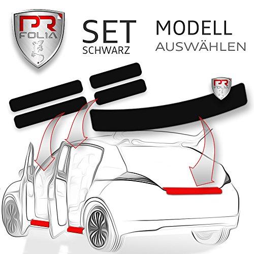 PR-Folia SET Ladekantenschutz + alle Einstiegsleisten in SCHWARZ, Lack-Schutz-Folie, Ladekante + Tür-Einstiege passend für gewähltes Modell
