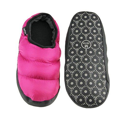 Homme/femme Pantoufles D'intérieur Pantoufle Chaleureux Chausson Hiver Imperméable Antidérapante Chaussures Doux en Peluche Confortable et Léger-Bleu Foncé Rose Rouge