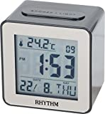 #8: Rhythm Lcd Clock Beep Alarm,Snooze & Led Light,Calendar,Thermometer,7 Languages Display Selectable(Eng/Ger/Fre/Spa/Ita/Dut/Den (7.2X7.2X5.0Cm)