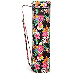 Fremous Yoga Mat Bag and Carriers for Women and Men - Bolsillos de Almacenamiento Multifunción Portátiles de Lona Yoga, Peony