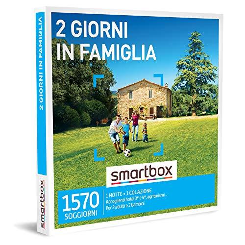 Smartbox - 2 giorni in famiglia cofanetto regalo soggiorni  1 notte con colazione per 2 adulti e 2 bambini