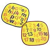 """First Steps confezione da 5,1cm """"lettere e numeri auto finestra parasole set-New Baby"""