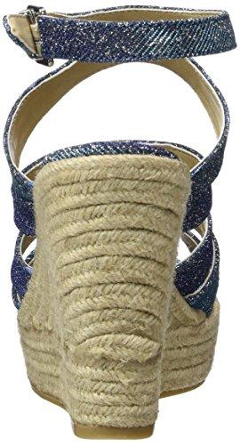 s.Oliver 28312, Sandales Bout Ouvert Femme Bleu (DENIM 802)