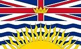 Aufkleber Fahne von British Columbia Kanada Flaggen Sticker Autoaufkleber