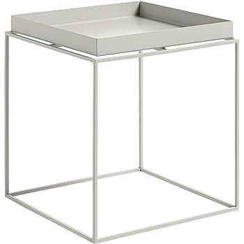 Hay Tray Medium Grau Grau Beige Beistelltisch Tray Table