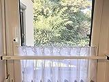 ERABOS® - Einbruchschutz   Sicherungsstange für Fenster/Türen   MIT KIPPSTELLUNGS-SCHUTZ   101-188cm   MASSIVER STAHL   weiß   auch in BRAUN erhältlich