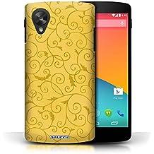 Impreso Hard Back Case para la recogida de {for use with}/{Collection}/{Color}, plástico, amarillo, LG Google Nexus 5/D821