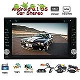 EinCar Kostenloses W-Backup-Kamera enthalten !!! Aktuelle Android-8.1-System Auto-DVD-CD-Player im Dash HD Video-Player mit 1024 * 600 Auflösung Unterstützung 3G 4G WiFi FM/AM RDS Radio-Screen-Sp