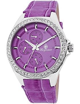 Burgmeister Armbanduhr für Damen mit Analog Anzeige, Quarz-Uhr und Lederarmband - Wasserdichte Damenuhr mit zeitlosem...