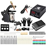 Solong Tattoo® Profi Komplett Tattoomaschine Set 1 Tattoo Maschine Guns Tattoo maschine Set Kit TK102