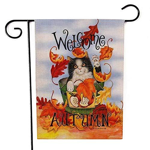 WOAIXI Garten Haushalt Hängende Fahne Flagge Festival Indoor Outdoor Home Decor Tier Katze Drucken Fahnen Dekorativen Requisiten Hof Willkommen Flags