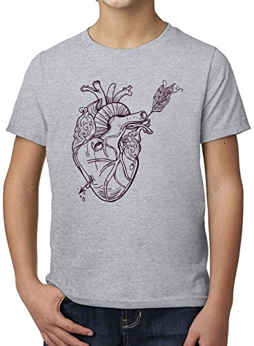 Shot through the heart Ultimate Youth Fashion T-Shirt by Benito Clothing - 100% Organic, Hypoallergenic Cotton- Casual Wear- Unisex Design - Soft Material 3-4 years (Shot Youth T-shirt)