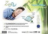 ZenPur® - Oreiller Premium Orthopédique & Ergonomique avec Housse en Viscose de Bambou Anti-Acariens Hypoallergénique et Garniture en Mousse Cervicale à Mémoire de Forme Maintien de la Nuque 100% Visco-Elastique Enrichie à l'Huile de Soja, idéal pour toutes les morphologies et positions de couchage - 40x60cm - Taie de 50x70cm conseillée