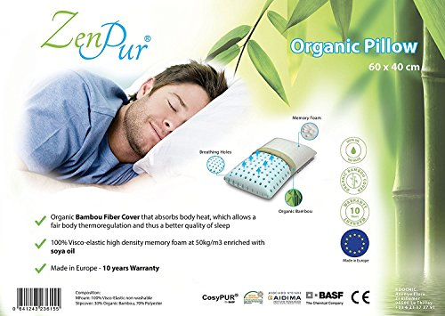 ZenPur - Oreiller Premium Orthopédique & Ergonomique avec...