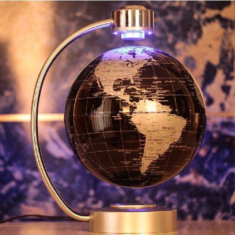 E-Plaza 8-Pulgada Innovador Retro Magnética Levitación Flotante Globo para Casa Oficina Büro Decoración (Negro)
