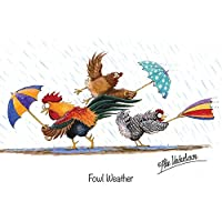 "Chicken Greeting Card""Fowl Weather"" by Alex Underdown"
